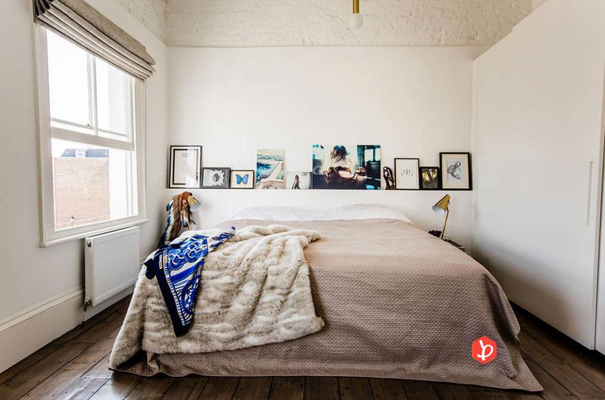 قفسه در دکوراسیون اتاق خواب