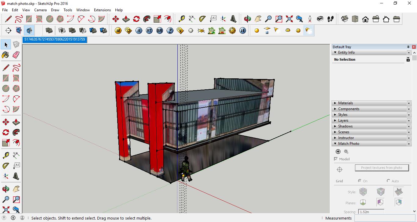 مدل سازی ساختمان از روی عکس در اسکچاپ