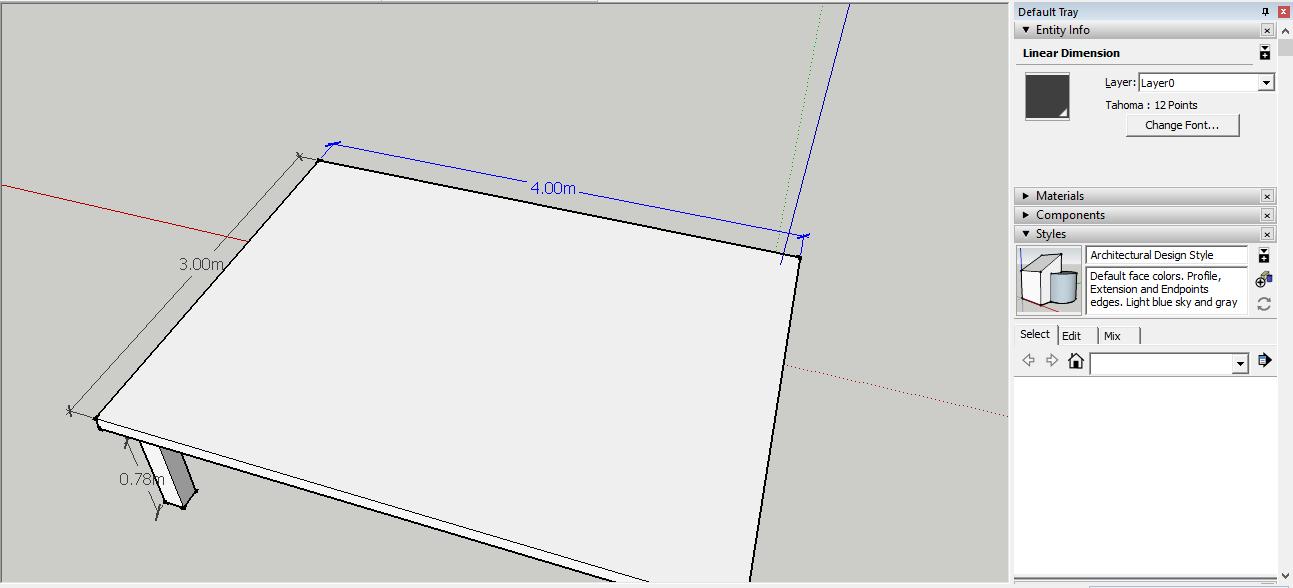 اندازه گذاری در نرم افزار اسکچاپ