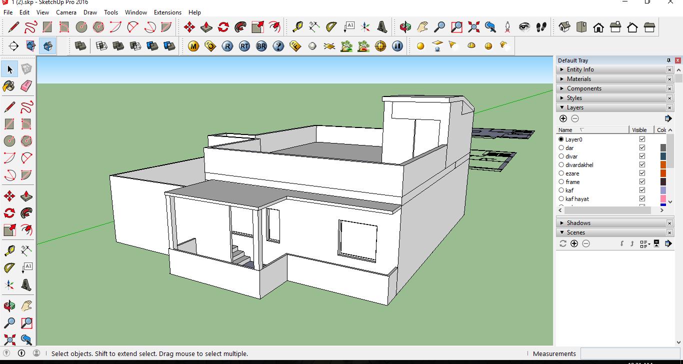 نمونه مدل برای آموزش لایه بندی در اسکچاپ
