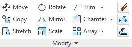 دستور Scale در رRibbon نرم افزار اتوکد