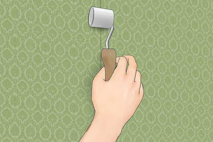 آموزش نصب کاغذ دیواری 5