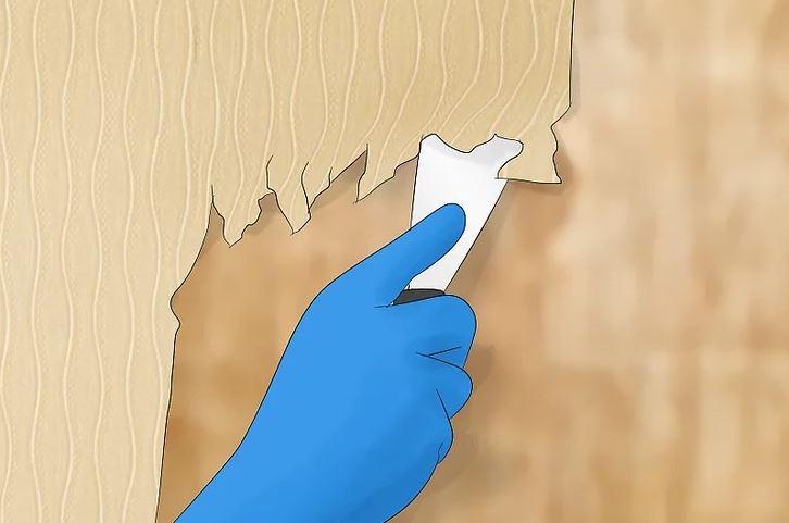 آموزش نصب کاغذ دیواری 2
