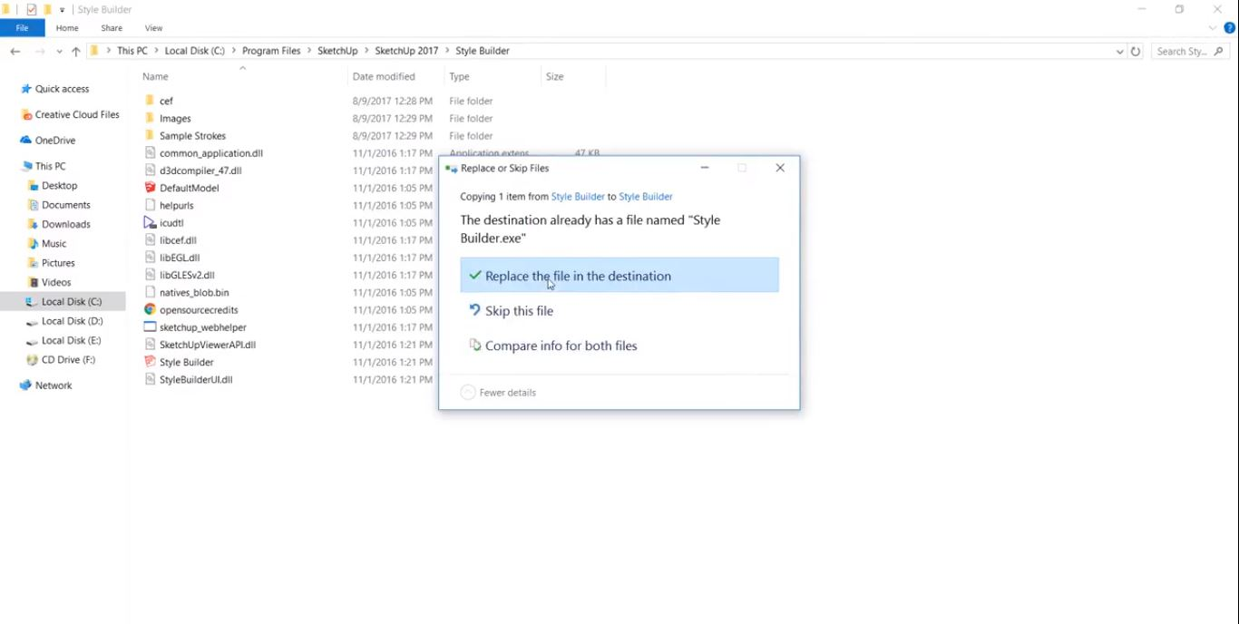 جایگزینی فایل کرک در محل نصب