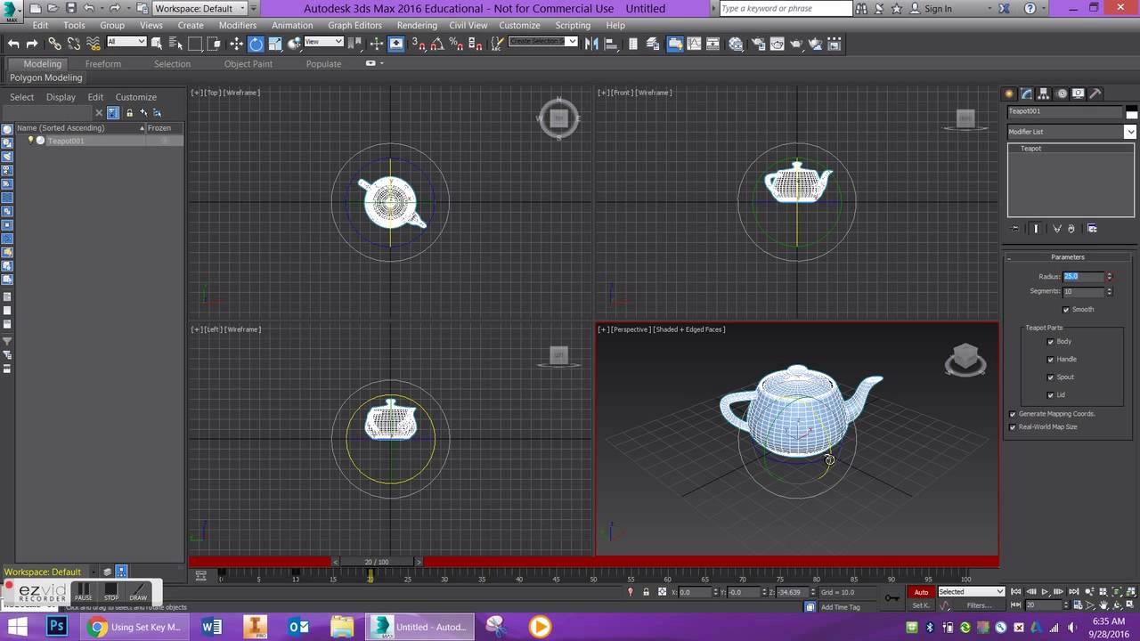 آموزش انیمیشن سازی در ۳d max جلسه ۴ 3