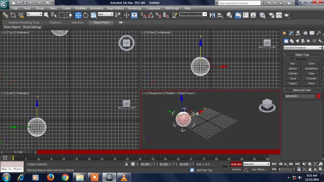 آموزش انیمیشن سازی در ۳D MAX جلسه دوم 3