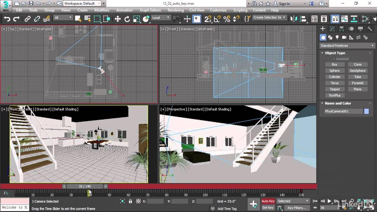 آموزش انیمیشن سازی در ۳D MAX جلسه دوم 4