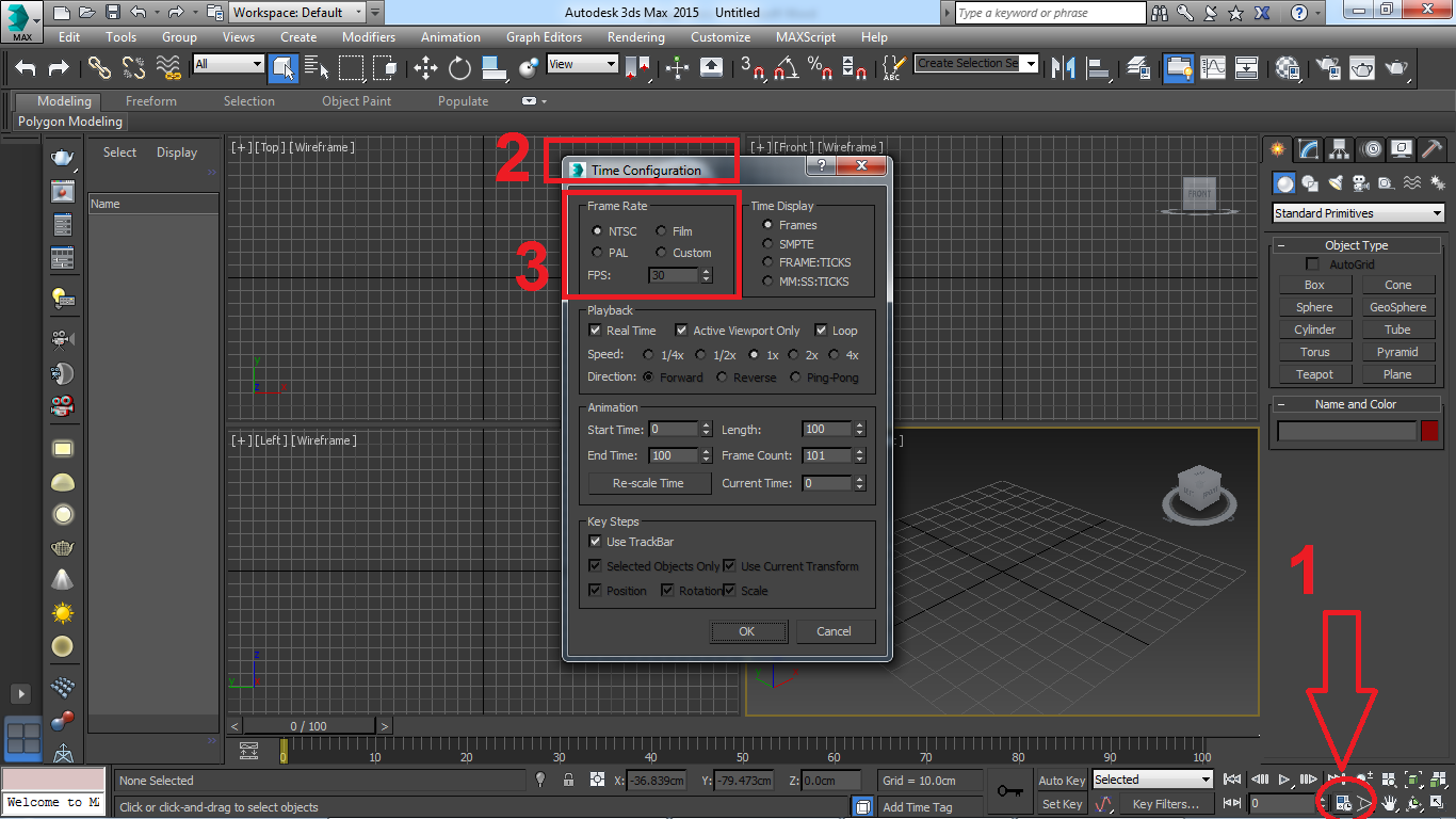 آموزش انیمیشن سازی با ۳d max جلسه ۹: تنظیم کردن سرعت فریم ها و قاب ها 2