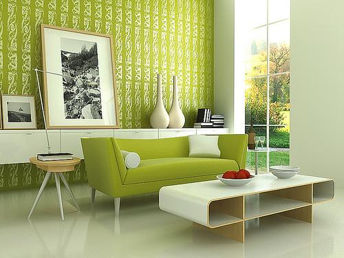 رنگ سبز در دکوراسیون