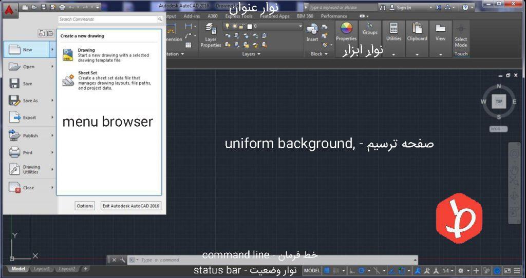 معرفی محیط نرم افزار - کلید های میانبر اتوکد