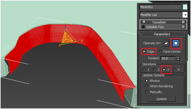 مدل سازی سه بعدی آبشار نیاگارا در ۳DMax 12