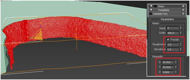 مدل سازی سه بعدی آبشار نیاگارا در ۳DMax 13