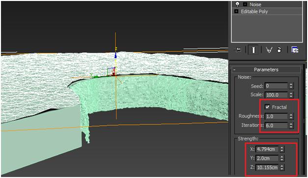 مدل سازی سه بعدی آبشار نیاگارا در ۳DMax 16