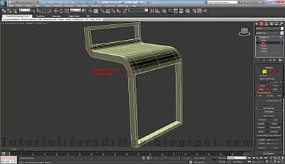 طراحی صندلی سه بعدی در ۳DMax 18