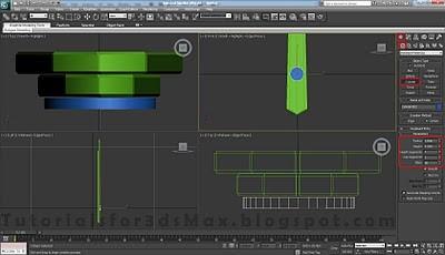 طراحی ساعت سه بعدی در تری دی مکس 19