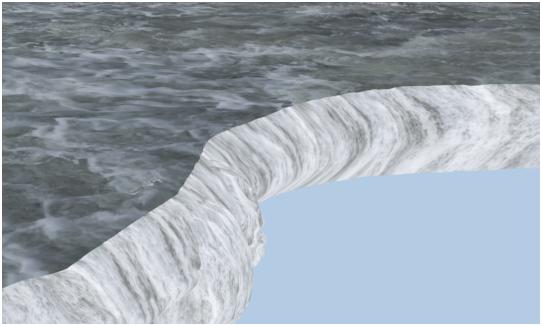 مدل سازی سه بعدی آبشار نیاگارا در ۳DMax 21