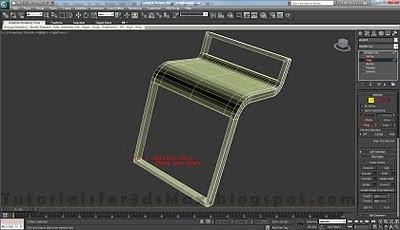 طراحی صندلی سه بعدی در ۳DMax 22