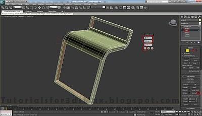 طراحی صندلی سه بعدی در ۳DMax 23