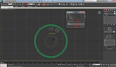 طراحی ساعت سه بعدی در تری دی مکس 27