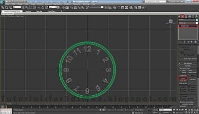 طراحی ساعت سه بعدی در تری دی مکس 29