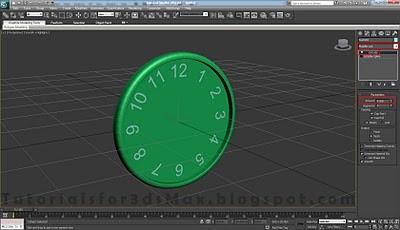 طراحی ساعت سه بعدی در تری دی مکس 30