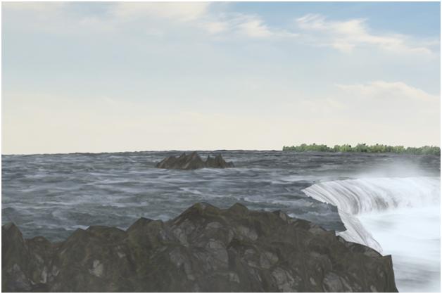 مدل سازی سه بعدی آبشار نیاگارا در ۳DMax 30