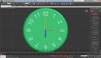 طراحی ساعت سه بعدی در تری دی مکس 31