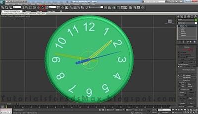 طراحی ساعت سه بعدی در تری دی مکس 32