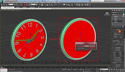 طراحی ساعت سه بعدی در تری دی مکس 33