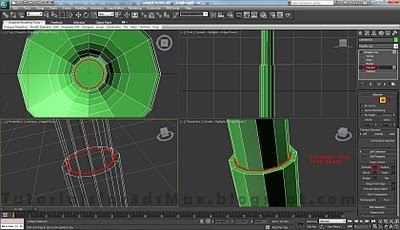 طراحی صندلی سه بعدی در ۳DMax 33