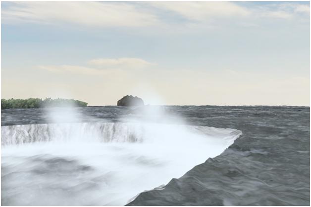 مدل سازی سه بعدی آبشار نیاگارا در ۳DMax 33