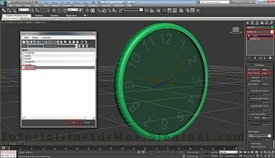 طراحی ساعت سه بعدی در تری دی مکس 34