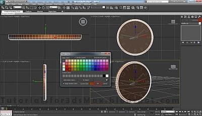 طراحی ساعت سه بعدی در تری دی مکس 35