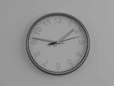 طراحی ساعت سه بعدی در تری دی مکس