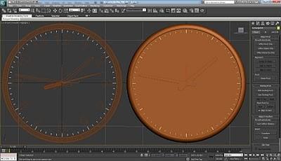 طراحی ساعت سه بعدی در تری دی مکس 36
