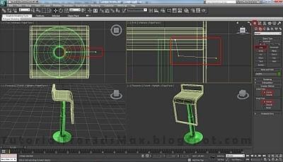 طراحی صندلی سه بعدی در ۳DMax 37