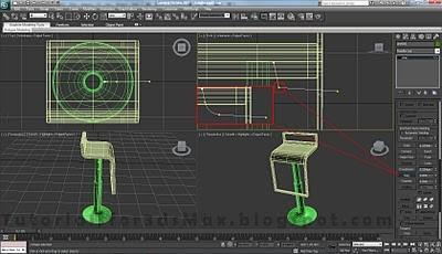 طراحی صندلی سه بعدی در ۳DMax 38