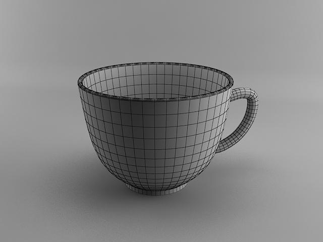 مدلسازی فنجان قهوه در تری دی مکس