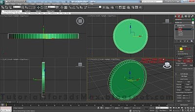 طراحی ساعت سه بعدی در تری دی مکس 4