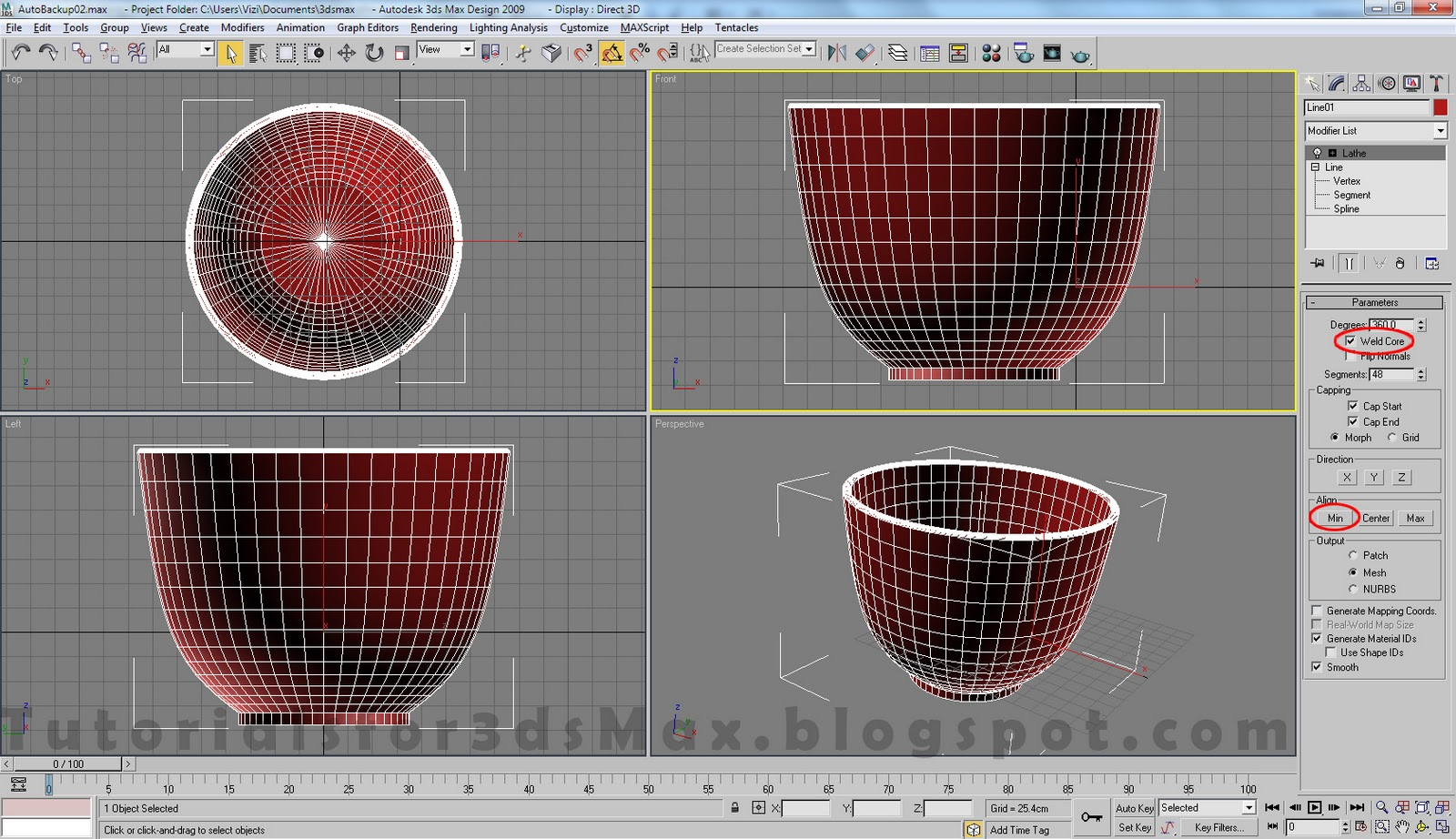 آموزش مدلسازی فنجان در تری دی مکس 5