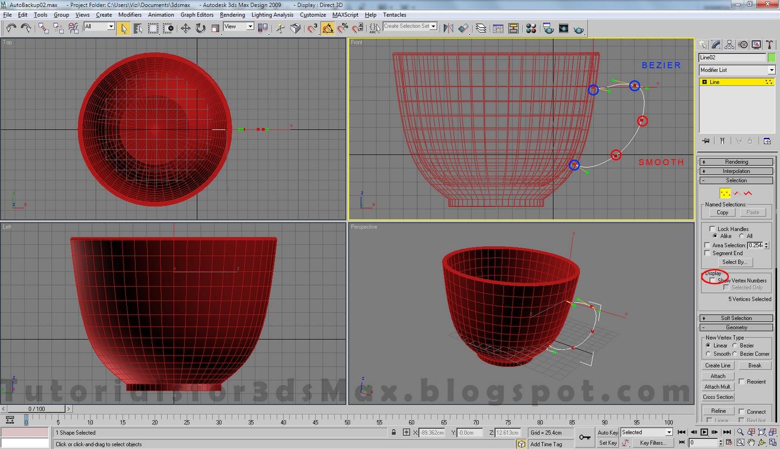 آموزش مدلسازی فنجان در تری دی مکس 6