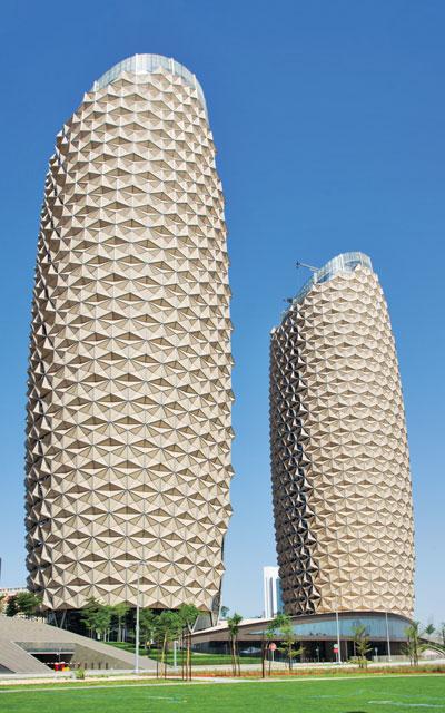 معماری برج های دوقلوی البحر