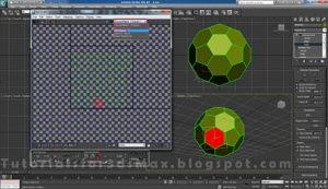 گام دهم طراحی توپ در تری دی مکس