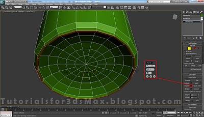 گام سیزدهم طراحی قوطی در 3DMax