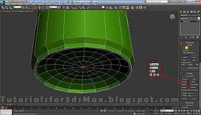 گام چهاردهم طراحی قوطی در 3DMax