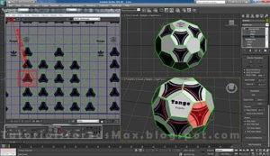 گام چهاردهم طراحی توپ در تری دی مکس