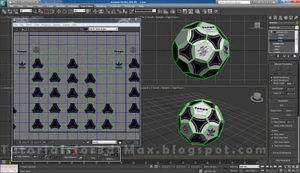 گام پانزدهم طراحی توپ در تری دی مکس