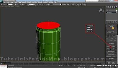 گام شانزدهم طراحی قوطی در 3DMax