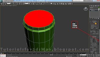 گام هفدهم طراحی قوطی در 3DMax
