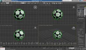 گام هفدهم طراحی توپ در تری دی مکس